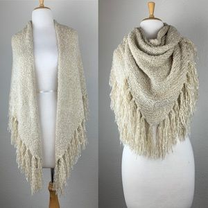 Triangle Wrap Scarf with Fringe
